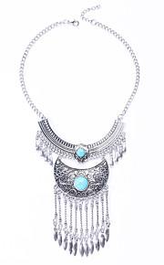 Modische Halsketten Türkis Schmuck Halloween / Hochzeit / Party / Alltag Modisch / Euramerican Aleación Silber 1 Stück Geschenk