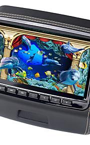 9 tommer bil hovedstøtte dvd-afspiller skærm med 800x480 skærm indbygget højtaler support usb sd spil fjernbetjening