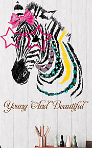 Young And Beautiful Zebra Wall Stickers Personality Fashion Living Room Bedroom Wall Decals Environmental