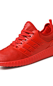 Women's Sneakers Fashion Running Shoes Kanye Yeezy Casual Flat Heel Lace-up Black / Red / White Walking
