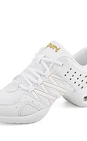 Для женщин-Дерматин-Не персонализируемая(Черный / Белый) -Танцевальные кроссовки