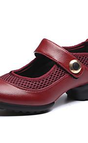 Для женщин-Дерматин-Не персонализируемая(Черный / Красный) -Танцевальные кроссовки / Модерн