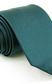 Men's Necktie Tie Light Green Solid 100% Silk Jacquard Woven Business Dress Casual Wedding For Men