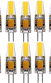4W G4 Spot LED T 1 COB 300-400 lm Blanc Chaud / Blanc Froid Décorative V 10 pièces