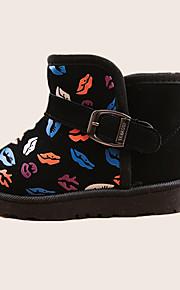 Boy's Boots Winter Comfort PU Casual Flat Heel Others Black / Red / Peach Walking
