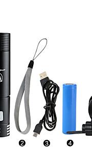 LED taskulamput / Käsivalaisimet / Polkupyörän etuvalo LED Pyöräily Himmennettävä / Vedenkestävä / ladattava / Helppo kantaa 18650 400