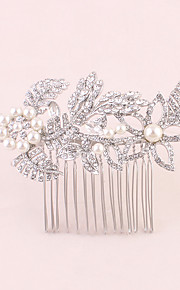 Women's Rhinestone Headpiece-Wedding Special Occasion Office & Career Hair Combs 1 Piece