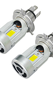 2pcs 40W H4 Plug Led Motorcycle Headlight Bulbs Moped Scooter Motobike Headlamp(DC 12V)