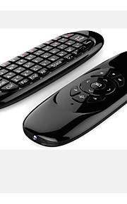 t10 2,4 g dobbelt fjernbetjening tastatur mini trådløst tastatur