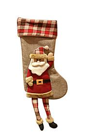 Joululelut / Lahjapussit Lomatarvikkeet Sukat / Joulupukki-asu / Hirvi / Lumiukko Tekstiili Hopea / Ivory / Valkoinen Kaikki