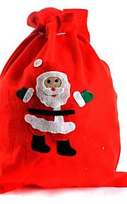 מתנת תיק סנטה קלאוס תיק 2pcs מולד שקית מתנת חג המולד (סגנון אקראי)