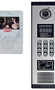 480*240 120 CMOS Dørklokke System Trådløs Flerfamiliehuse video dørklokken