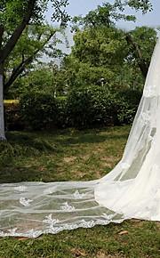Veli da sposa 2 strati Velo lungo (con strascico) Bordi in pizzo Tulle / Pizzo