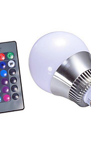 5W E14 / GU10 / B22 / E26/E27 Ampoules LED Intelligentes A60(A19) 1 LED Haute Puissance 500 lm RVBGradable / Commandée à Distance /
