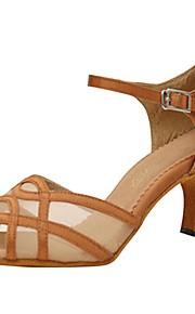 Для женщин-Сатин-Персонализируемая(Желтый) -Латина / Джаз / Сальса / Обувь для свинга