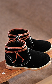 Boy's Boots Comfort Cowhide Casual Black Yellow Gray