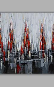Maalattu Abstrakti / Maisema öljymaalauksia,Moderni / Classic 1 paneeli Kanvas Hang-Painted öljymaalaus For Kodinsisustus