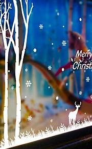 Jul Tegneserie Højtid Veggklistremerker Fly vægklistermærker Dekorative Mur Klistermærker Materiale Kan fjernes Kan OmposisjoneresHjem