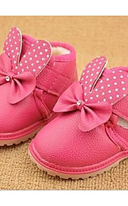 Girl's Boots Comfort PU Casual Pink Red Peach