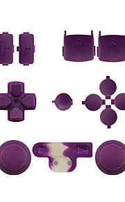 udskiftning controller tilfælde monteringssæt indstillet til ps3 controller orange / lilla / pink
