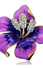 damesmode legering / strass bloem broches pin partij / dag / bruiloft sjaal clips sieraden 1pc