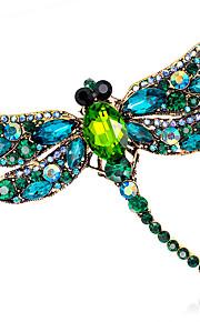 damesmode legering / strass / kristallen libelle broches pin partij / dag / bruiloft luxe sieraden 1pc