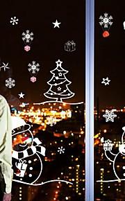 Jul Tegneserie Højtid Veggklistremerker Fly vægklistermærker Dekorative Mur Klistermærker Bryllups klistermærker MaterialeKan fjernes Kan