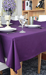 Rectangular Solid Table Cloth , 100% Cotton Material Hotel Dining Table / Table Decoration / Dinner Decor / Home Decoration