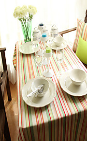Rectangular Patterned Table Cloth , Cotton Blend Material Hotel Dining Table / Table Decoration