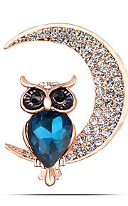 damesmode legering / strass maan broche pin partij / dag / casual dier vormen sieraden 1pc