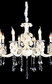 40W Lustre ,  Contemporain Peintures Fonctionnalité for Cristal Designers Style Bougie MétalSalle de séjour Chambre à coucher Salle à