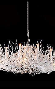 40W Lustre ,  Contemporain Peintures Fonctionnalité for Designers Style Bougie MétalSalle de séjour Chambre à coucher Salle à manger