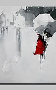 手描きの 人物 抽象的な風景画 四角形,Modern 欧風 1枚 キャンバス ハング塗装油絵 For ホームデコレーション