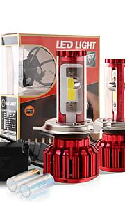 2017 nye h4 120W 10000LM cob chip førte forlygte konvertering kit 2 farver 5000K yale gul 6000K hvid pærer lampe par