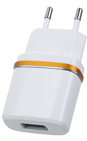 jtron dc 5.3V 2.0A USB-strømforsyning / oplader (eu stik) - hvid sort