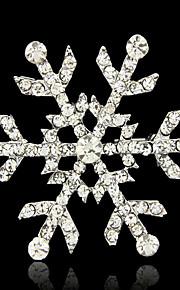 de bruid sneeuwvlokken broche