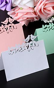 Marque-place(Blanc Rose Vert,Papier nacré) -rustique Theme Perle Perle Non personnalisé