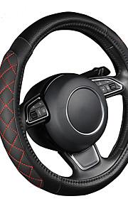 autoyouth pu lederen auto stuurhoes zwart lychee patroon met twee zijden dikke schuimvulling m size fits 38cm / 15