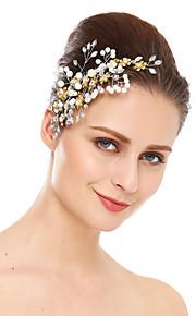 Damen Strass Kristall Künstliche Perle Kopfschmuck-Hochzeit Besondere Anlässe Haarkämme 1 Stück