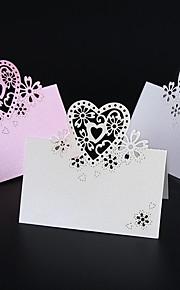 Marque-place(Blanc Rose,Papier nacré) -Thème de jardin Bohemian Theme Vintage Theme rustique Theme Perle Perle Non personnalisé