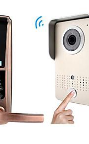 actop intelligente hjem sikkerhed wifi video dørklokken intercom alarmfunktion suppot ios og Andriod fingeraftryk og adgangskode dørlås