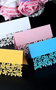 Marque-place(Blanc Rose Bleu Or,Papier nacré) -Thème de plage Thème de jardin rustique Theme Perle Perle Non personnalisé