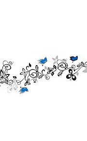 Tiere Botanisch Blumen Wand-Sticker Flugzeug-Wand Sticker Dekorative Wand Sticker,Vinyl Stoff Haus Dekoration Wandtattoo