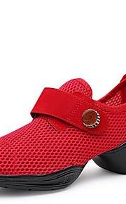 Zapatos de baile(Negro Rojo Blanco) -Zapatillas de Baile-No Personalizables-Tacón Bajo