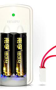 Nanfu nf lrb-nf-LC1 1.5v AA batería de litio 750mAh 3 pack