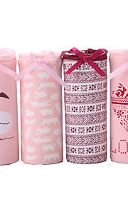 4 Pcs/Lot Women's Sexy Panties Cotton Spandex Seamless Underwear Girls Cute Briefs