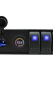 dc 12v / 24v geleid digitale voltmeter stopcontact met toggle tuimelschakelaar jumper draden en huisvesting houder