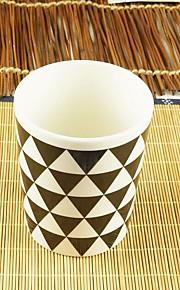 미니멀리즘 드링크웨어, 300 ml 간단한 기하학적 패턴 세라믹 누드 우유 일상용 컵