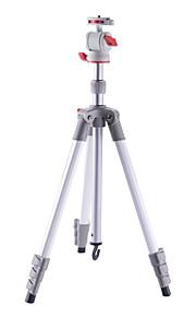rejse stativ foled højde 445mm midtersøjle kan bruges som selfie stick til mobiltelefon nt-206