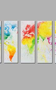 手描きの 抽象画 縦長,Modern 5枚 キャンバス ハング塗装油絵 For ホームデコレーション